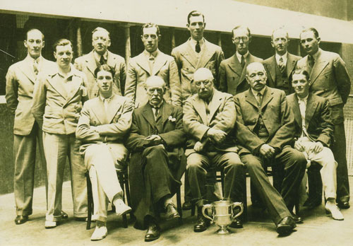 Taken at the Prince's Club in Brighton in 1936 on the occasion of the playing of the Browning Cup, the handicap tournament for Professional Tennis players