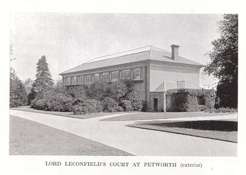 A fine view of the exterior of Petworth House Tennis Court c1920